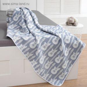 Одеяло детское Крошка Я «Гитара», 110 ? 140 см, цвет синий, жаккард, 100 % хлопок