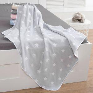 Одеяло детское «Крошка Я» Серые звёзды 110?140, жаккард, 100% хлопок