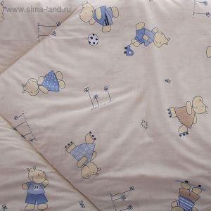 Одеяло шерстяное стёганное, размер 120*120 см, цвет Микс  К31/1   1594774