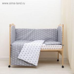 """КПБ """"Ноченька"""", цвет серый, бязь хл100% 3837533"""