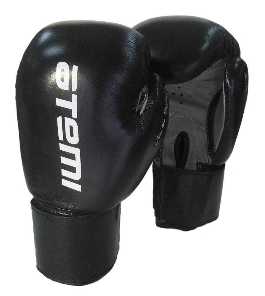 Перчатки боксерские ATEMI черные LTB19009