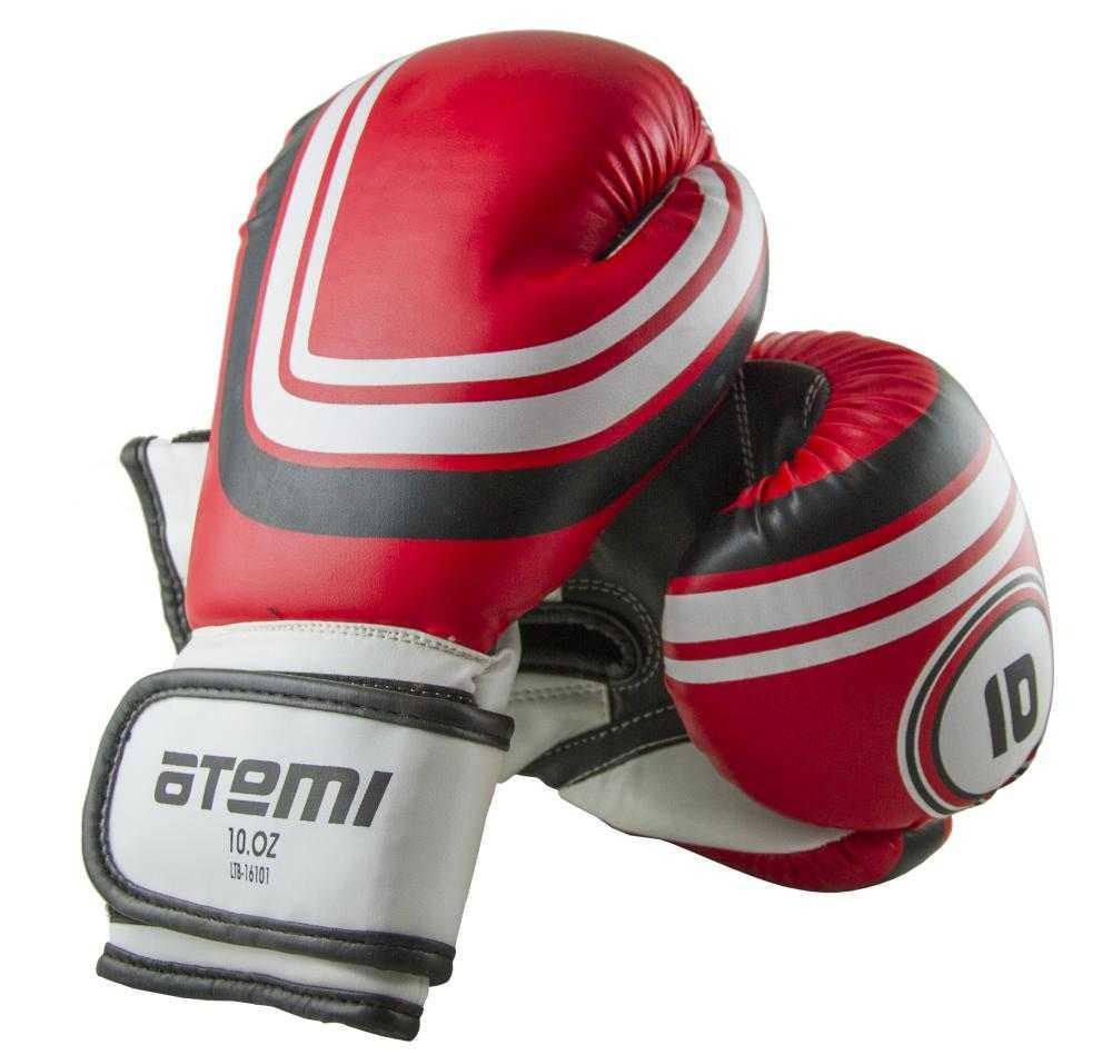 Перчатки боксерские ATEMI красные LTB-16101
