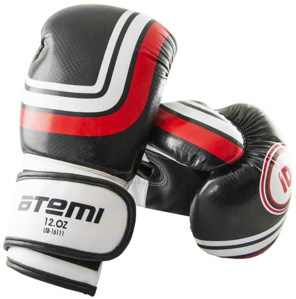 Перчатки боксерские ATEMI черные LTB-16111