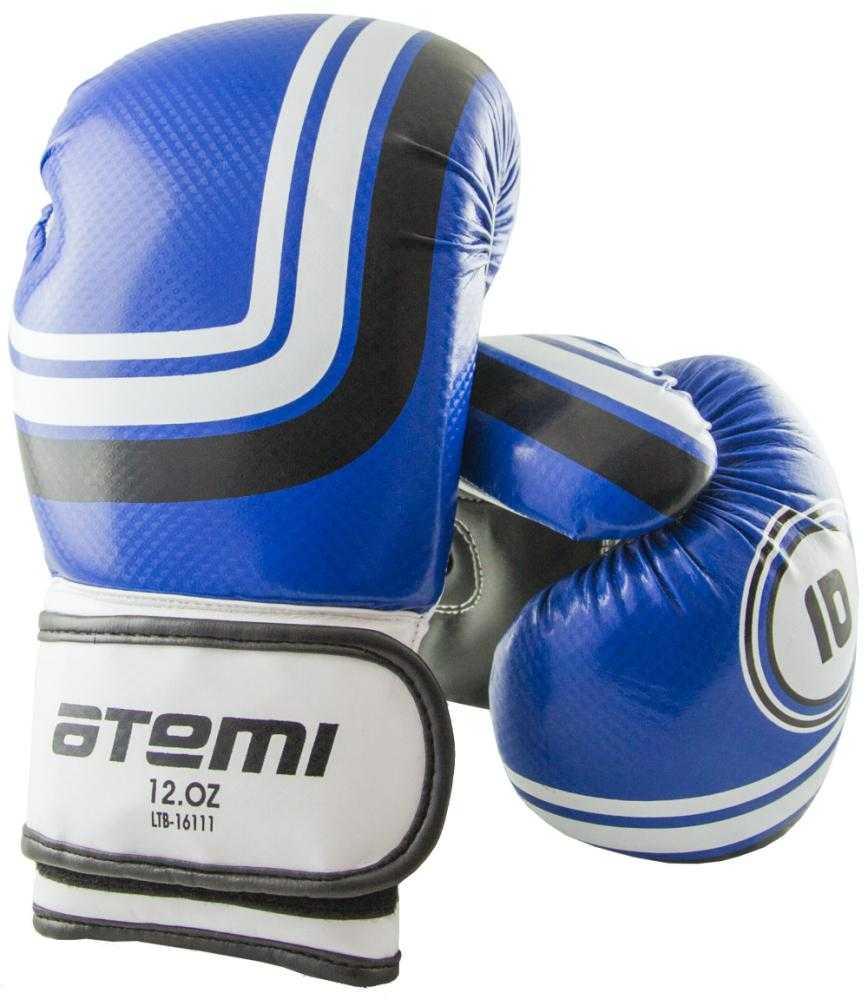 Перчатки боксерские ATEMI синие LTB-16111