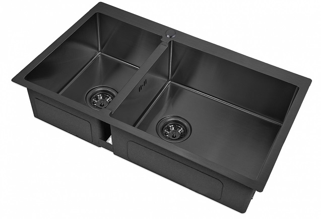 Врезная кухонная мойка ZorG PVD 78-2-51-R GRAFIT