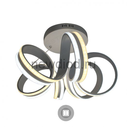 Управляемый светодиодный светильник подвес on/off VOLNA DOUBLE 90W 6R-500/1200-WHITE/OPAL-220-IP20