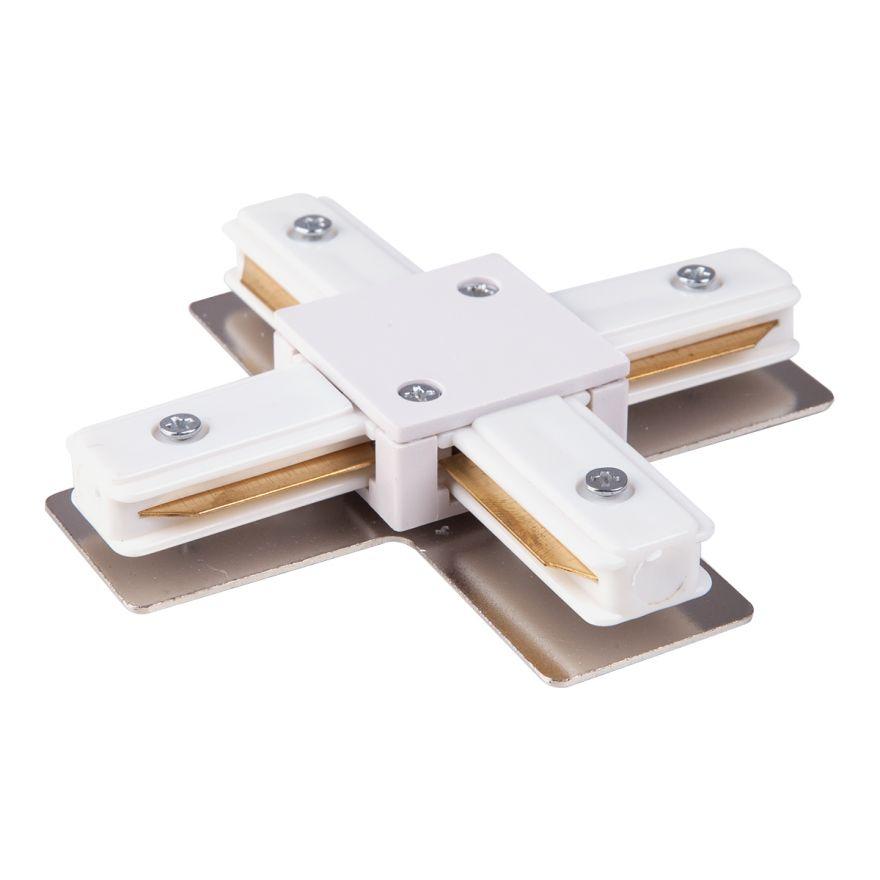 Коннектор X-образный для однофазного шинопровода белый Elektrostandard TRC-1-1-X-WH