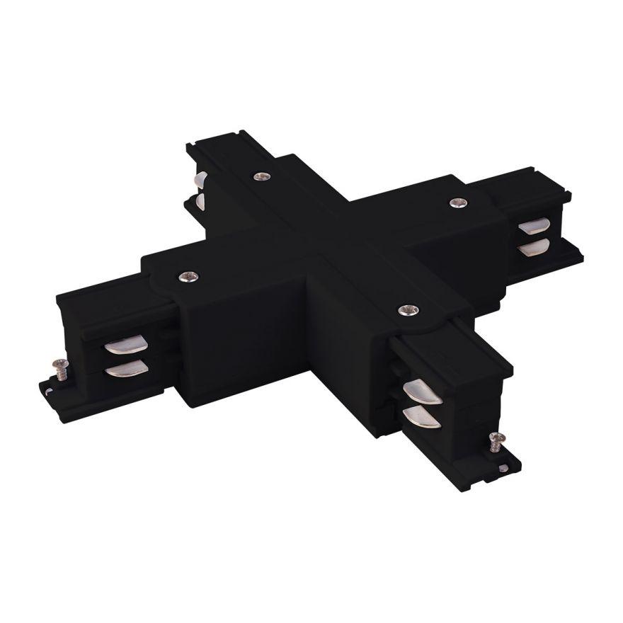 Коннектор X-образный для трехфазного шинопровода черный Elektrostandard TRC-1-3-X-BK