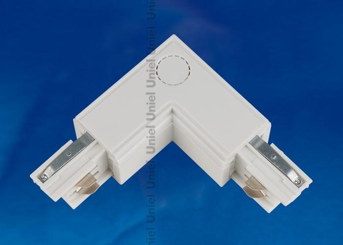 Соединитель для шинопроводов 3-фазный L-образный внутренний Uniel белый UBX-A22 WHITE 1 POLYBAG