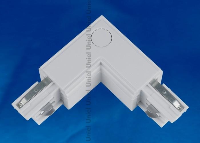 Соединитель для шинопроводов 3-фазный L-образный внутренний Uniel серебро UBX-A22 SILVER