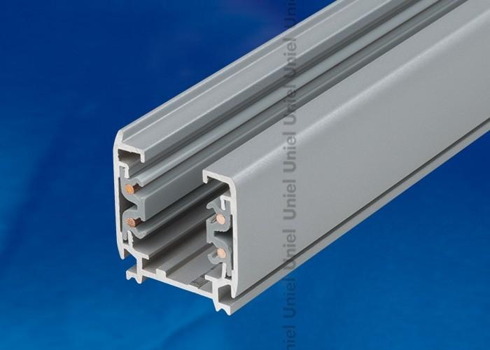 Шинопровод осветительный 3-фазный Uniel серебро L=1м UBX-AS4 SILVER 100 POLYBAG