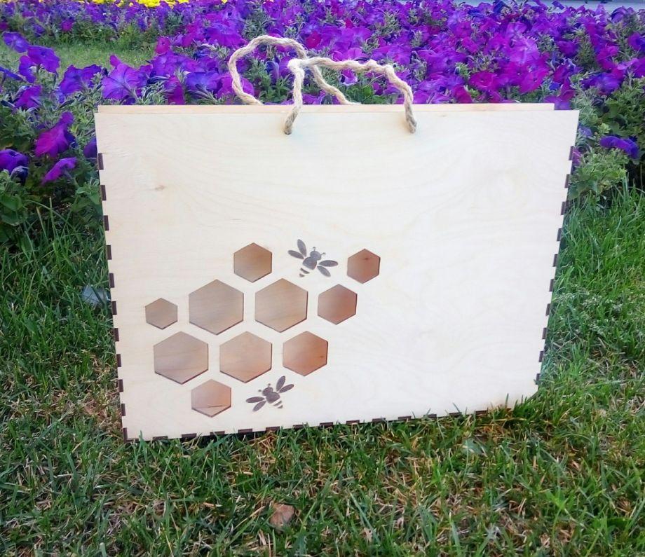 Коробка (сумка) под мед с ручками
