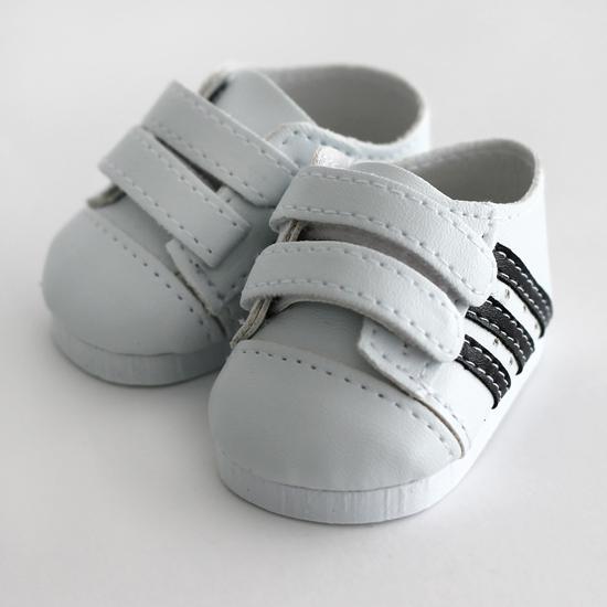 Обувь для кукол 6,5 см - кроссовки белые