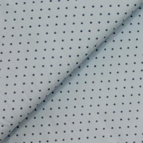Ткань 50х40 Звезды на Серо-голубом