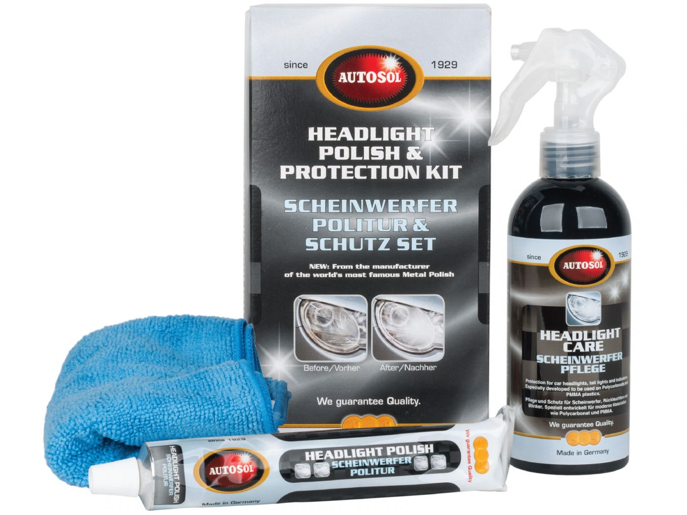 Набор для полировки и защиты пластиковых фар AUTOSOL