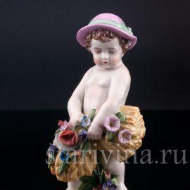 Малыш со снопом, аллегория лета, Muller & Co, Германия, пер. пол. 20 в.