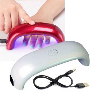 Лампа для сушки гель-лака Mini Rainbow - LED, 9W, USB, Цвет: Белый