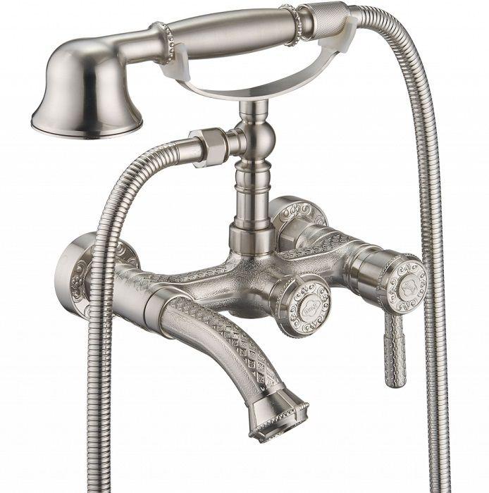 Однорычажный смеситель для ванны с душем ZorG Antic A 200W-SL