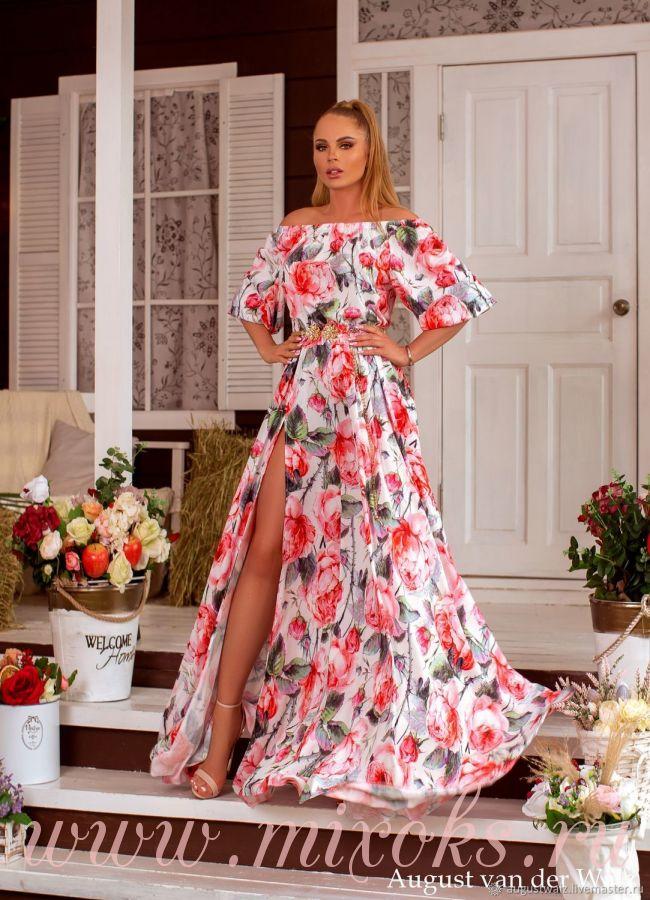 Платье с регулируемыми плечами