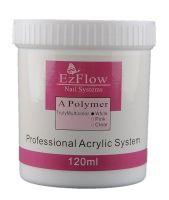 Ezflow Акриловая пудра для ногтей белая (White), 120 г