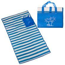 Пляжный коврик с ручками для переноски, 120х170 см, Цвет: Синий