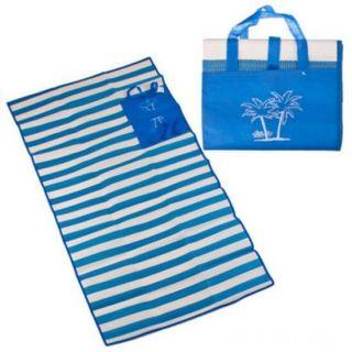Пляжный коврик с ручками для переноски, 90х170 см, Цвет: Синий