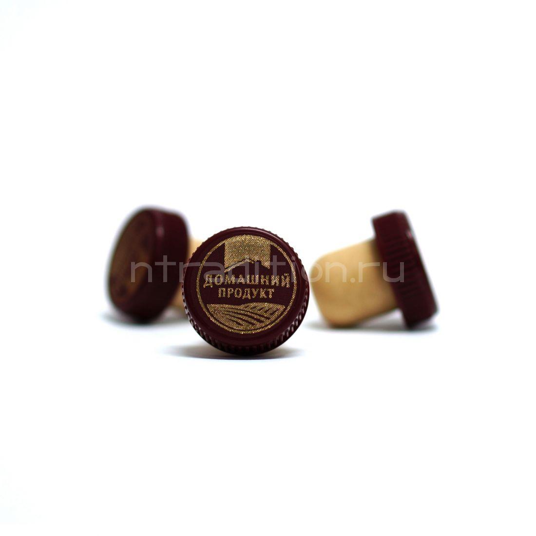 T-образная коньячная пробка, 19,5 мм, Домашний продукт, 10 шт., бордо