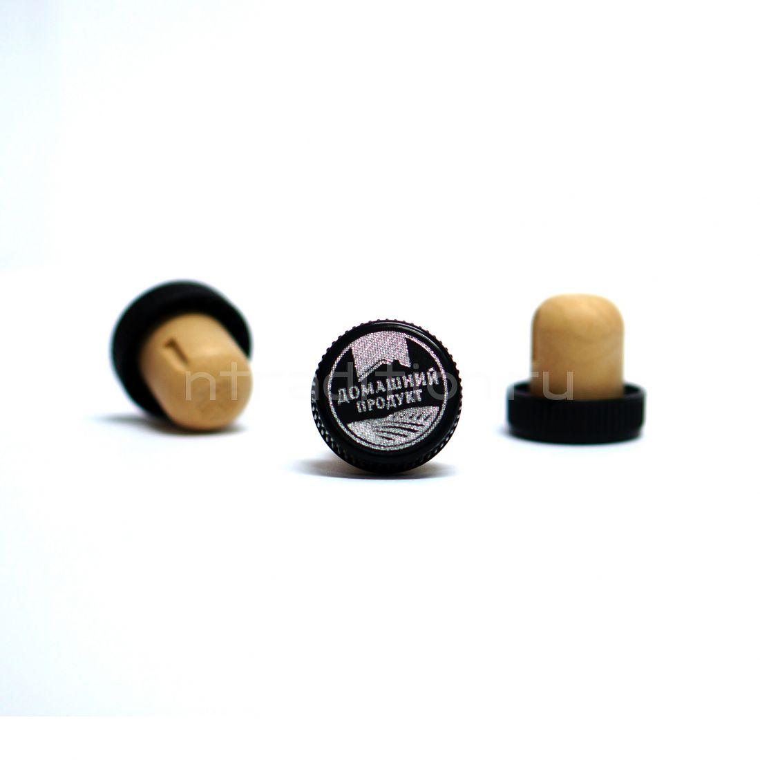 T-образная коньячная пробка, 19,5 мм, Домашний продукт, 10 шт., черный