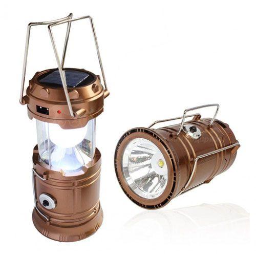 Складной кемпинговый фонарь 3 в 1, 14 см: цвет - золотой.