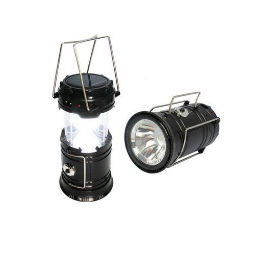 Складной кемпинговый фонарь 3 в 1, 14 см: цвет - чёрный.