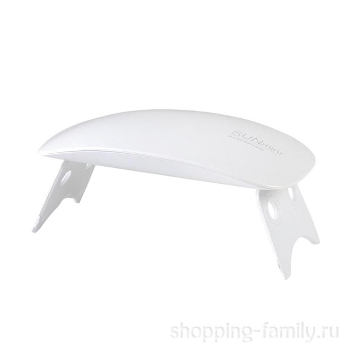 Гибридная мини-лампа для полимеризации гель-лака UV Led Sun Mini, Цвет Белый