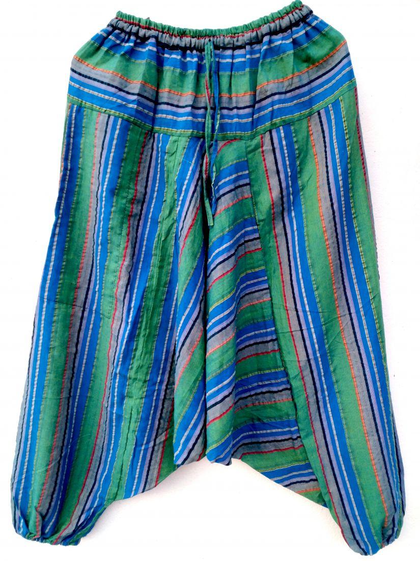 Сине-зелёные полосатые афгани, унисекс (СПб)
