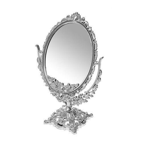 Двустороннее овальное косметическое зеркало с увеличением Cosmetic Mirror  19х12 см