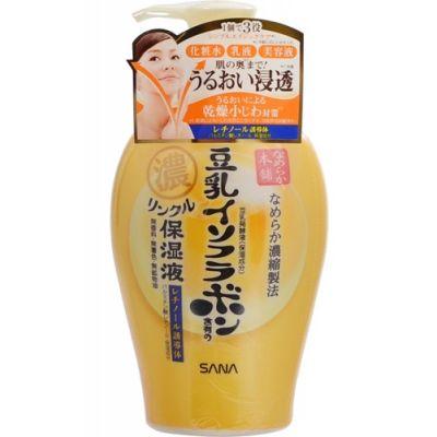 SANA Увлажняющее и подтягивающее молочко с ретинолом и изофлавонами сои 3 в 1 (с дозатором),230мл