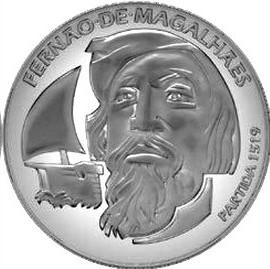 500 лет плаванию Магеллана 7,5 евро Португалия 2019
