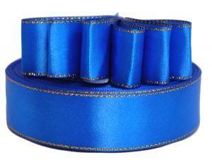 `Лента атласная с металлизированной кромкой, ширина 25 мм, цвет: 3161