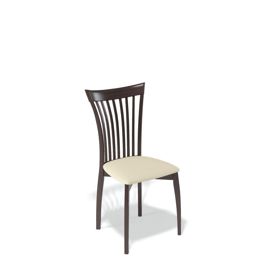Деревянный стул KENNER 102М, с мягким сиденьем, цвет венге - крем