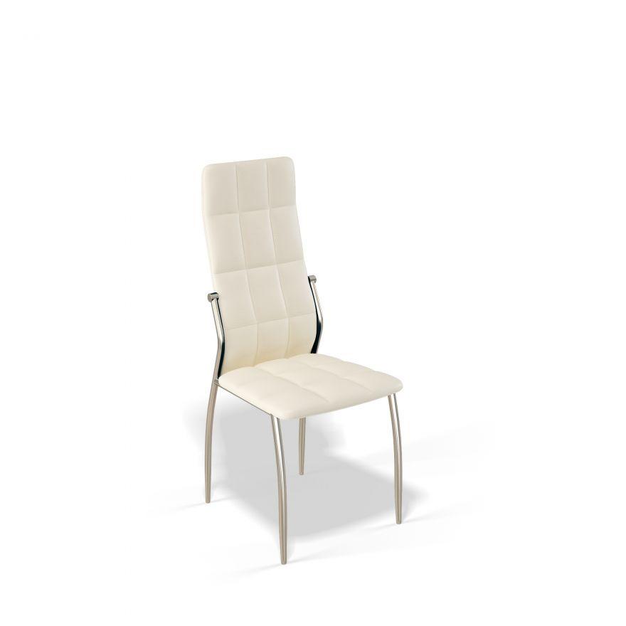 Стул для гостиной KENNER 106S, с мягким сиденьем и спинкой, крем