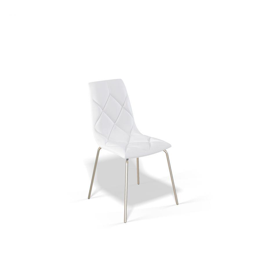 Стул для гостиной KENNER 108S, с мягким сиденьем и спинкой, белый