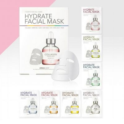 Dermal Shop Collagen Essense Mask Hyaluronic Acid Инновационная коллагеновая маска для лица c комплексом аминокислот, витаминов, пептидов