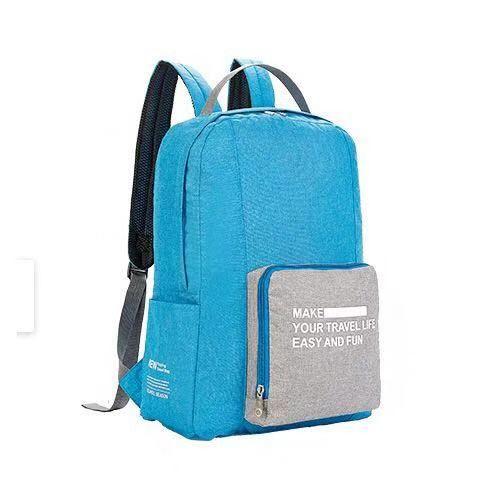 Складной туристический рюкзак New Folding Travel Bag Backpack 20: цвет – синий.