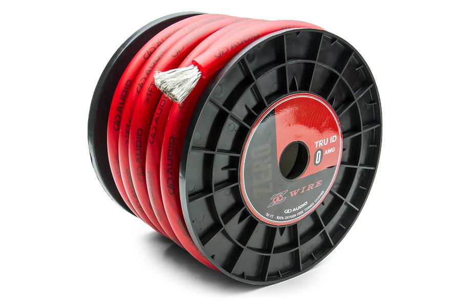 Силовой кабель красный DD Z-wire 0Ga RED