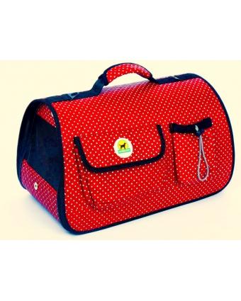 Roly-Poly Сумка переноска Шарм M красная  складная с карманами и ковриком