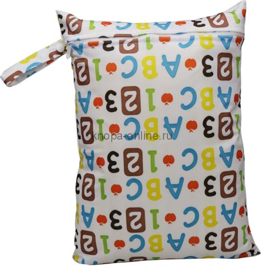 Непромокаемая сумочка - цифры и буквы