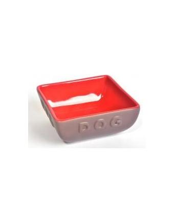 Миска GLG керамика для кошек и собак красно-коричневая Восток