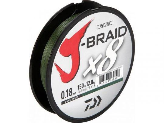 Шнур плетеный DAIWA J-Braid X8 150 м зеленый