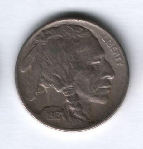 5 центов 1913 года США XF+