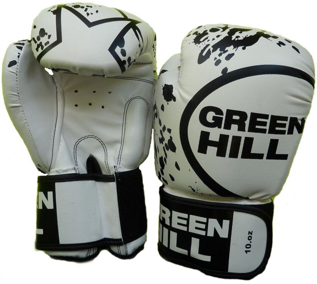 Перчатки боксерские GREEN HILL STAR BGS-2219 белые