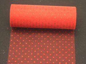 Фатин с люрексом, средняя жесткость, ширина 15 см, бобина 10 ярдов, цвет: Q12 красный