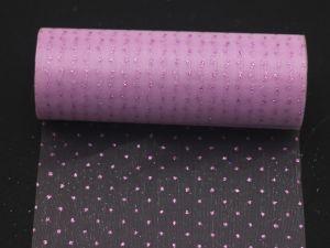 Фатин с люрексом, средняя жесткость, ширина 15 см, бобина 10 ярдов, цвет: Q16